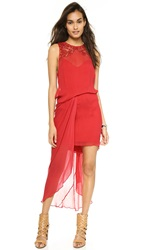 Free People Red Hot Party Dress Chili Red