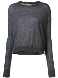 Helmut Lang Crew Neck Sweater Grey