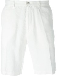 Boss Hugo Boss Pleated 'Yaron D' Chino Shorts White