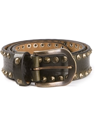 Fausto Colato Studded Belt Black