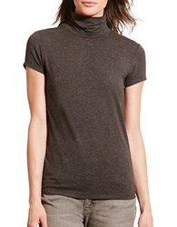 Lauren Ralph Lauren Short Sleeve Turtleneck Jersey Tee Grey