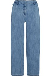 Steve J And Yoni P High Rise Wide Leg Jeans Mid Denim