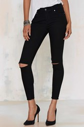 Nasty Gal Aline High Waisted Cropped Skinny Jeans