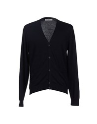 Grey Daniele Alessandrini Knitwear Cardigans Men Dark Blue