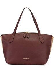 Burberry House Check Detailed Tote Pink And Purple