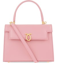 Launer Judi Leather Tote All Baby Pink