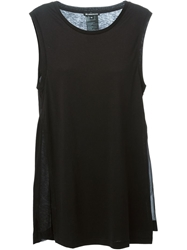 Ann Demeulemeester Side Slit Tank Top Black