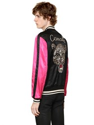 Roberto Cavalli Reversible Cotton Satin Bomber Jacket