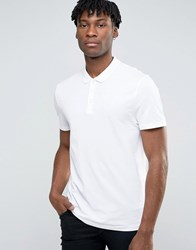 Asos Oversized Pique Polo Shirt In White White