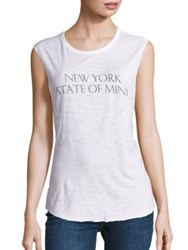Feel The Piece Tyler Jacobs X Cut Off New York Graphic Tank Top White