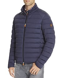 Save The Duck Quilted Puffer Jacket Navy Blue Melange