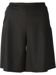 Jil Sander Navy Wide Leg Shorts Black