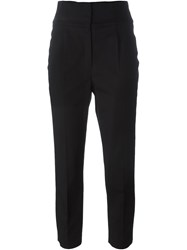 Red Valentino Laced Back Slim Trousers Black