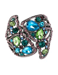 Betsey Johnson Butterfly Effect Mixed Faceted Stone Butterfly Cuff Bracelet Multi