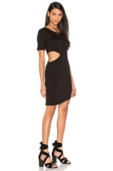 Lna Cut Out Side T Shirt Dress Black