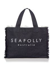 Seafolly Carried Away Free Love Beach Tote Bag Blue