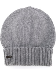 Dsquared2 Slouchy Beanie Grey