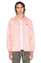 Obey Unusual Activity Coaches Jacket Pink