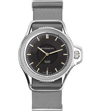 Givenchy Gy100181s10 Seventeen Stainless Steel And Leather Watch