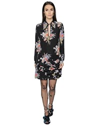 N 21 Printed Silk Crepe De Chine Dress