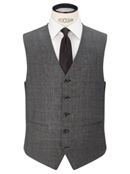 Chester By Chester Barrie Prince Of Wales Check Suit Waistcoat Grey