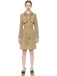Vivetta Embroidered Techno Cotton Trench Coat