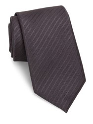 Pal Zileri Striped Silk Tie Grey