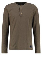 Abercrombie And Fitch Long Sleeved Top Grape Leaf Oliv