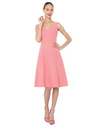 Isaac Mizrahi Jacquard Fit And Flare Dress Coral