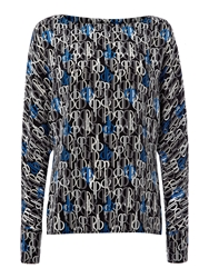 Pied A Terre Silk Print Batwing Top Multi Coloured