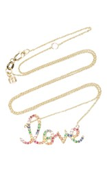 Sydney Evan Rainbow Large Love Necklace Multi