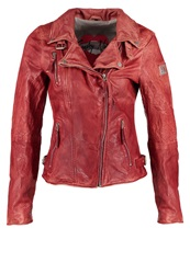 Freaky Nation Real Love Leather Jacket Red