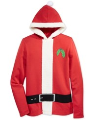 American Rag Men's Holiday Santa Claus Hooded Sweatshirt Only At Macy's Barn Red