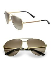 Givenchy 61Mm Aviator Sunglasses Gold Brown Dark Brown