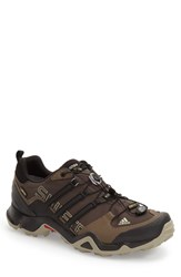 Men's Adidas 'Terrex Swift R Gtx' Gore Tex Hiking Shoe Umber Black Grey Blend