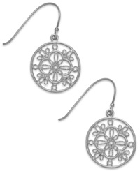 Giani Bernini Filigree Circle Drop Earrings In Sterling Silver
