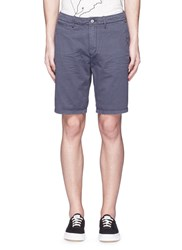 Scotch And Soda Garment Dyed Cotton Shorts Blue