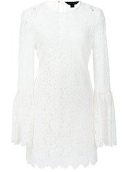 Rachel Zoe Fitted Lace Dress White