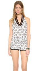 Poupette St Barth Beline Romper Black Pineapple