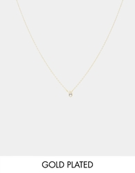Asos Gold Plated Sterling Silver April Birthstone Choker Necklace Diamondgold