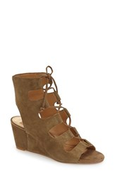 Women's Dolce Vita 'Louise' Ghillie Lace Wedge Olive Suede