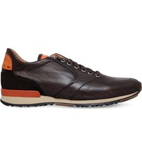 Magnanni Ebdy Leather Runner Trainers Brown