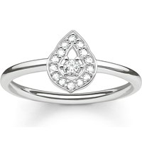 Thomas Sabo Fatima's Garden Sterling Silver And Zirconia Pave Stacking Ring