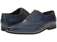 Messico Miguel Navy Kid Leather Men's Flat Shoes