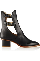 Maiyet Leather Ankle Boots Black