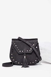 Nasty Gal Nila Anthony Back In The Saddle Suede Bag Gray