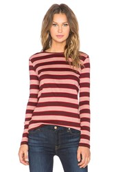 Mih Jeans Kate Long Sleeve Tee Red