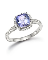Bloomingdale's Tanzanite And Diamond Ring In 14K White Gold