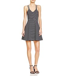 French Connection Sienna Striped Dress 100 Bloomingdale's Exclusive Nocturnal Summer White