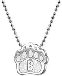Little Collegiate By Alex Woo Brown Pendant Necklace In Sterling Silver